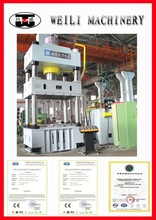 WEILI MACHINERY Top Quality Four Column clamp hoop ends punching press