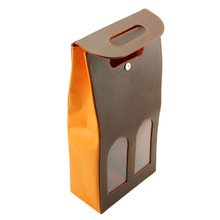 Top quality leather wine box for two bottles wine bottle carrier wholesale