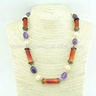 Fashion jewelry natural gemstone necklace NFJ14080206