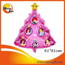 Wholesale Christmas tree shape mylar balloons