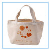 Decorative trendy cotton beach bag with rope handle