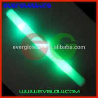 2015New Glow Stick 180pcs/lot TOP Sell Custom Logo Green LED Foam Stick