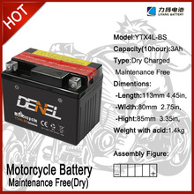 dry battery for motorcycle,battery for motorcycle,12v 3ah motorcycle battery