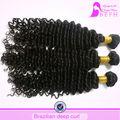 Entrega alerta!! Befa cabelo cabelo brasileiro virgem 3 feixes 8 polegadas a 36 polegadas curto encaracolado brasileira extensões de cabelo