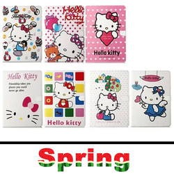 High Quality Hello Kitty Smart Case Cover for Apple ipad Mini 1 2 PU Leather with Stand 8 Inch 7 Colors 2014 Fashion Pattern