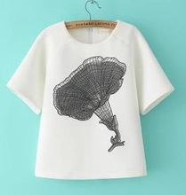 Z51386A NEWEST SUMMER WHOLESALE POPULAR LADY AUTUMN TSHIRTS