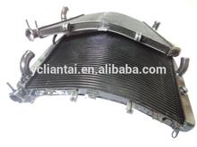 Motorcycle curve radiators