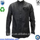 EN11612 Black Cow Split Leather Welder's Pure Leather Jacket