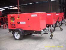 Global Service 150KVA Engine open type trailer king pin