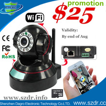 August Promotion!! Factory Direct P2P IP cameras, wifi PTZ wireless cctv camera system