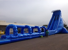 Super quality hot selling fire truck inflatable slide