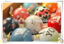 De noël décoratif différents types de boîte en fer en forme de bal / miniature boîtes métal