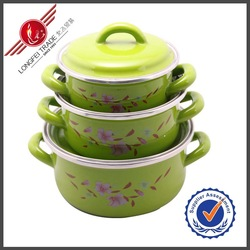 2014 As Seen On TV Persimmon Cooking Pot Enamel Kitchen Utensils Parts