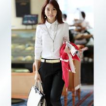 Projetos uniformes escritório para as mulheres calças e blusa