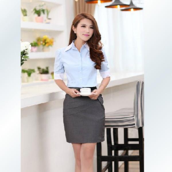 8fa0ff036e8b21 Nuevo diseño de moda blusas de la oficina uniforme-Tallas grandes ...  Compartir en Facebook