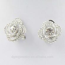 2014 cute diamond stud earrings antique silver earring