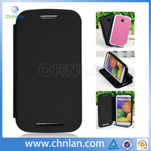 High Quality Protective PU Leather Cover For Motorola E XT1021 XT1022 Flip Cover
