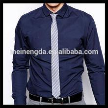 Hot trendy fancy formal solid pattern mens luxury dress shirt for men