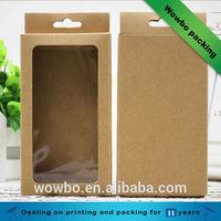 Mobile phone case kraft packaging / paper iphone kraft case packaging
