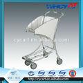 trole da mão 4 roda de liga de alumínio carrinho de compras pessoais assento w