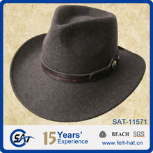 cheap brown wool felt cowboy hat for wholesale
