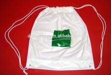 2014 new school bags for girls plastic drawstring bag insert