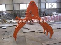 VOLVO Excavator grapple bucket, hydraulic grapple, rotating grap, grabs, scrap grapple, rock grapple for DOOSAN
