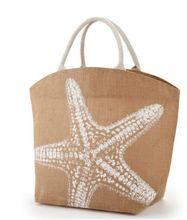 eco-friendly jute shopping bag wholesale woman tote bag beach bag