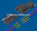 3 pino plástico masculino e feminino fio a fio conectores para automóveis