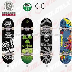 2014 New Design heat transfer maple skateboard complete Professional Leading Manufacturer