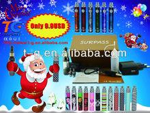 bulk e cigarette purchase vaporizer pen made in China refillable e cigarette TG on sales SURPASS for 2013 Christmas gift