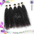 2014 caliente de la venta 100% natural de áfrica de la trama del pelo extensiones de cabello