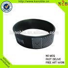 custom rubber logo silicon wristband