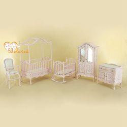 9963 Pink nursery set 1/12 scale dollhouse nursery room