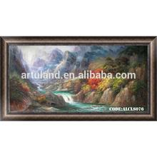 Beautiful oil painting autumn landscape