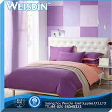 single bed Guangzhou plaid ultrasonic microfiber wedding bedding set for christmas
