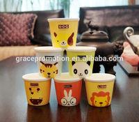 2014 creative Cute cartoon cup ,mini color animals ceramic milk mug