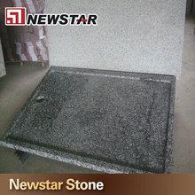 Chinese sea wave spray white granite shower tray