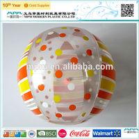 2014 fashion design, eco-freindly beach ball, inflatable beach ball dot printing