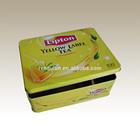 Rectangular tin box, lipton tea tin box