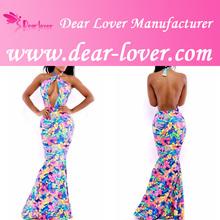 2014 Fashion Custom Made Alibaba Floral Print Mermaid Maxi Dress China