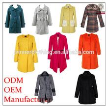 famous name brand garments fashion design good quality long winter coat