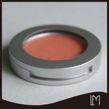 Round matte silver holder OEM color single eyeshadow pan
