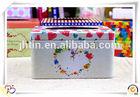 Christmas decorative popular style rectangular paper tin box/cute cookie tin box