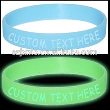 2014 Hot sale custom glow in the dark bracelet