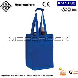 4 Bottle Wine Non Woven Bag Promotional Bottle Tote Bag