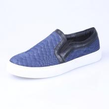 2015 navy snake PU fashion sneaker
