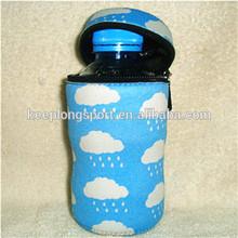 Cartoon Neoprene insulated bottle cover with buckle soft cover case for vacuum bottle Zipper Stubby Holder