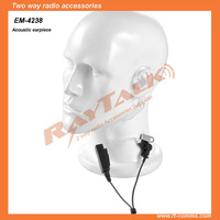 Surveillance acoustic tube headset with durable dual PU cable