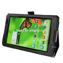 for lenovo a8-50 a5500 protective case, pu leather portfolio flip cover case